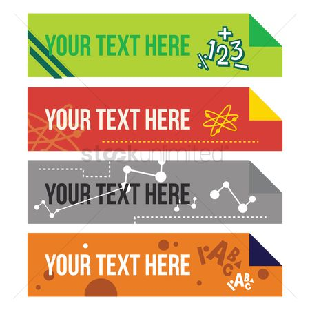 Plus : Set of educational banners