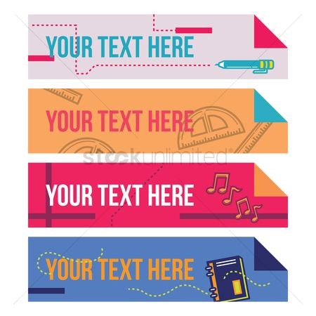 Accessories : Set of educational banners