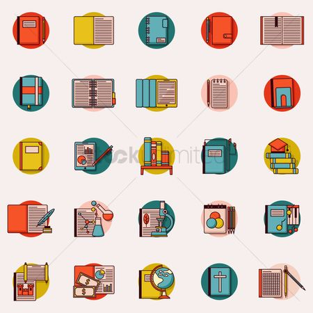Readings : Set of educational icons