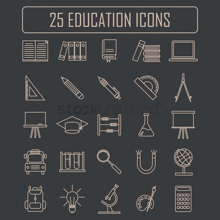Duster : Set of educational icons