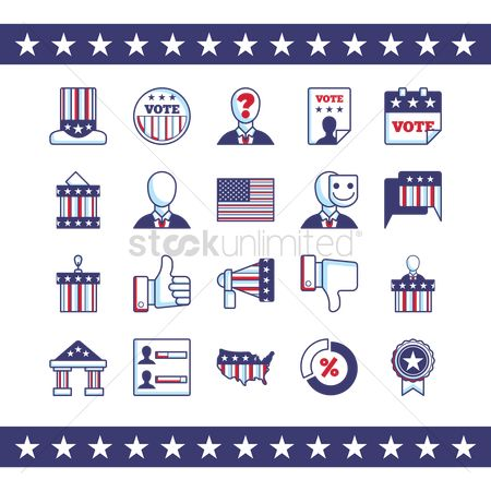 White house : Set of election icons