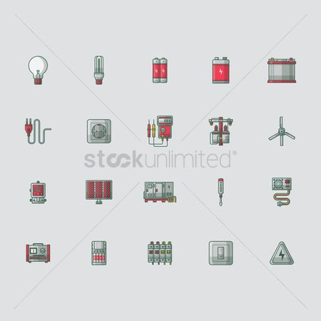 Hardwares : Set of electric icons