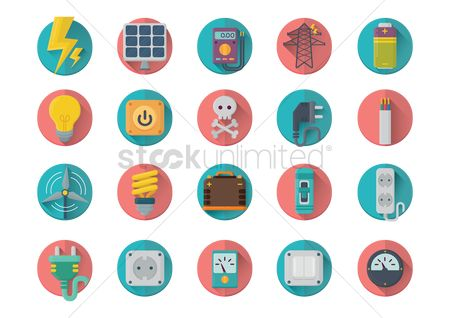 Volume : Set of electrical icons