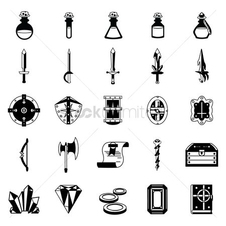 Shield : Set of fantasy icons