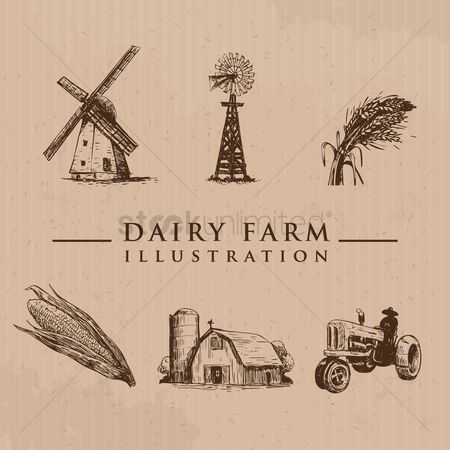 Styles : Set of farm icons