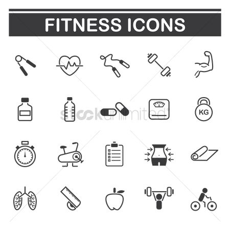 Lady : Set of fitness icons