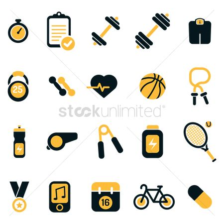Medal : Set of fitness icons