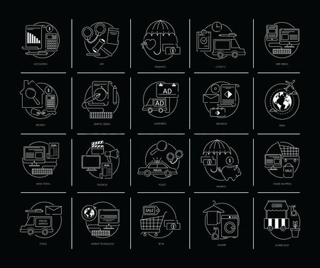 Washing machine : Set of flat design icons