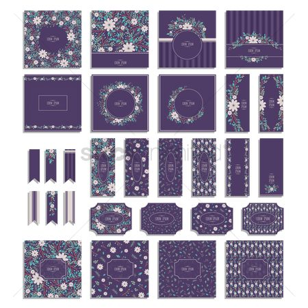 Sets : Set of floral icons