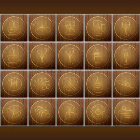 Croissants : Set of food and banquet backgrounds