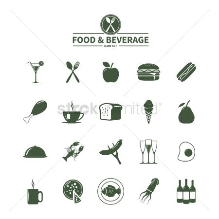 Binge : Set of food and beverage icons