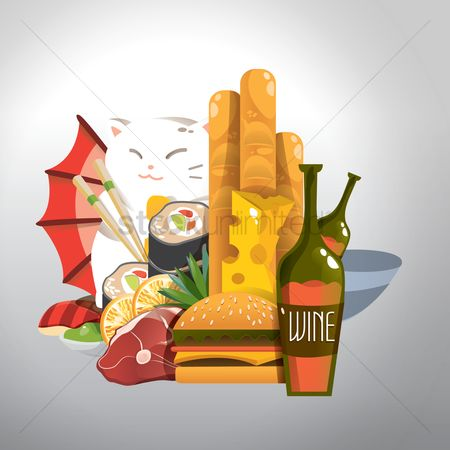 Junk food : Set of food icons
