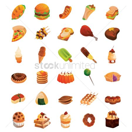 Slice : Set of food icons