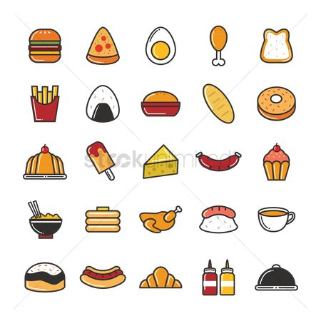 Croissants : Set of food icons