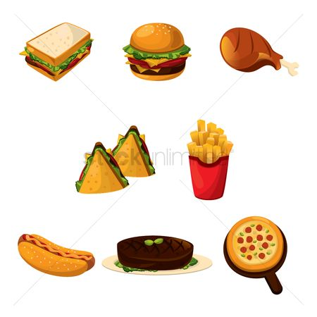 Flavor : Set of food icons