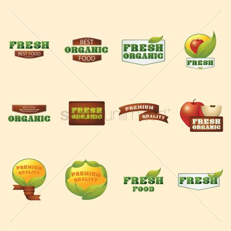 Fresh : Set of food labels