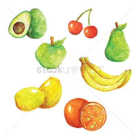 Nutritions : Set of fruit icons