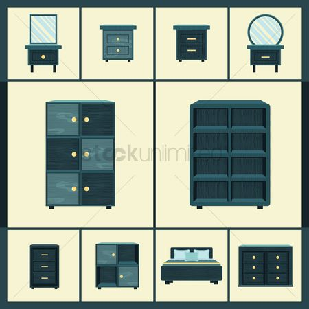 Racks : Set of furniture icons