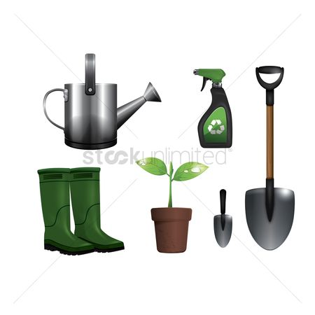 Footwears : Set of gardening icons
