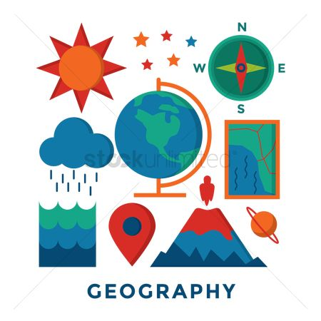 Map pin : Set of geography icons