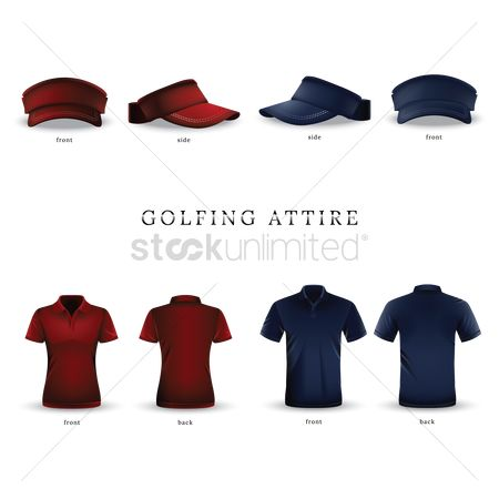 Backview : Set of golfing attires