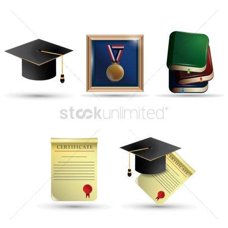 Medal : Set of graduation icons