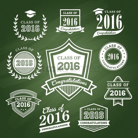 Laurel : Set of graduation icons