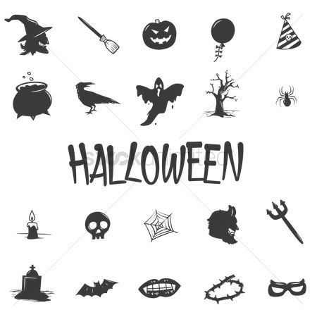 Fork : Set of halloween icons