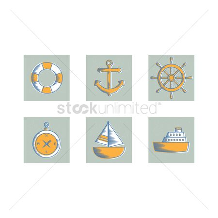 Sail : Set of harbor icons