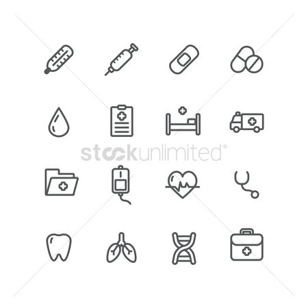 Health : Set of health icons