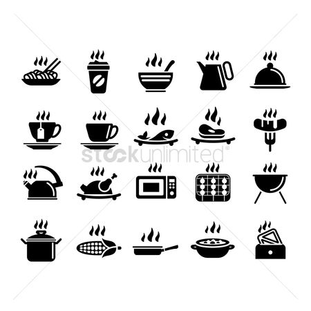 Plates : Set of hot icons