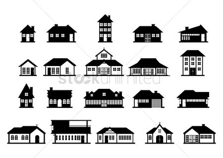 Real estate : Set of house icons