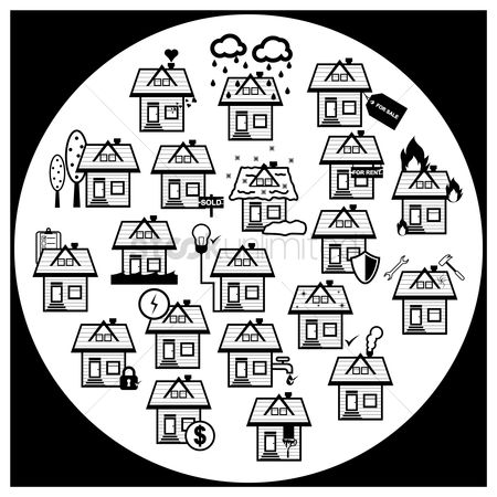 Cottage : Set of house icons