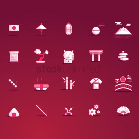 Zen : Set of japan icons