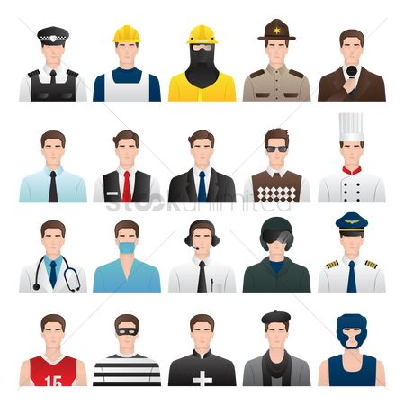 Workers : Set of job icons