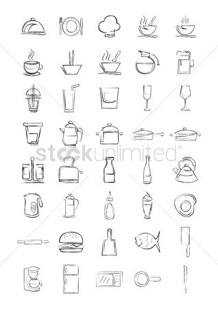 Beer mug : Set of kitchen equipments