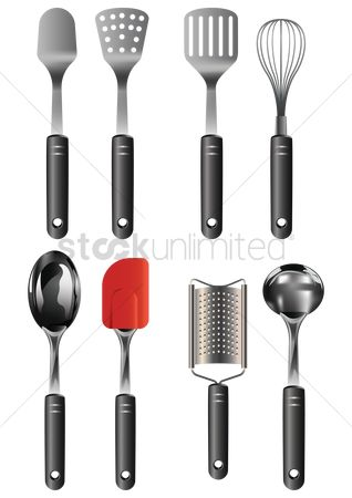 Handles : Set of kitchen utensils