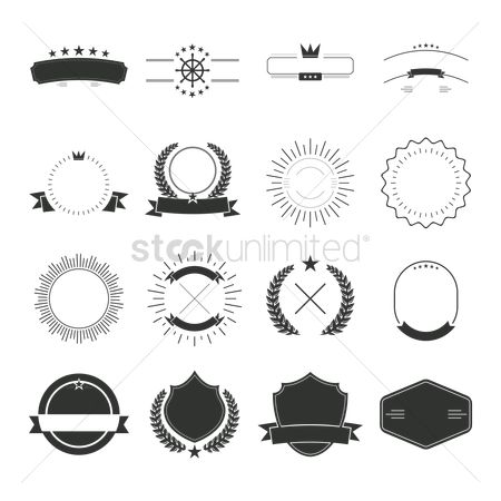 Insignia : Set of label and badge design templates