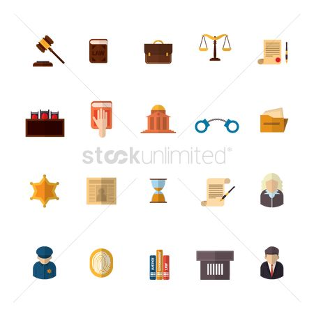 Icons news : Set of law icons