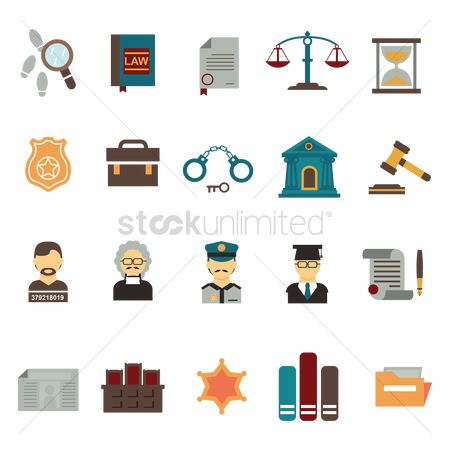 Policemen : Set of law icons