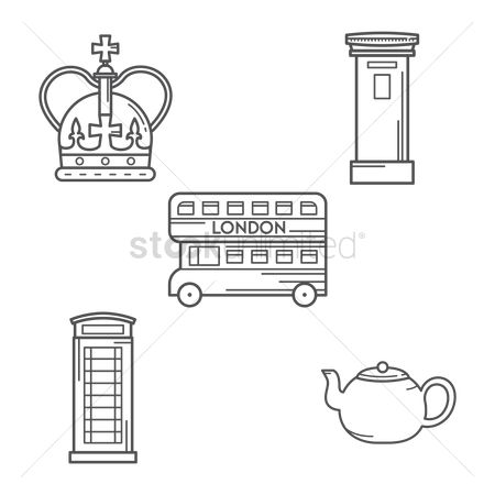 Teapot : Set of london icons