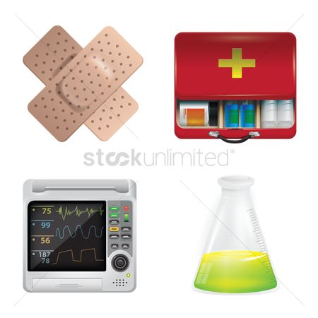 Chemicals : Set of medical equipment