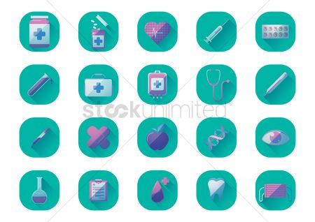 Medicines : Set of medical icons