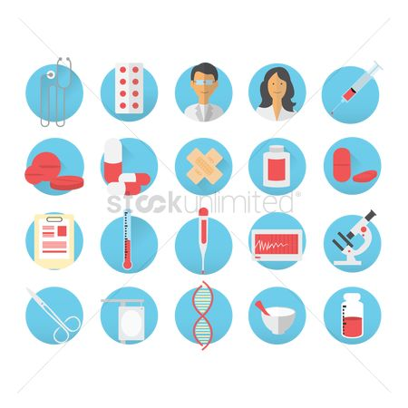 Dna : Set of medical icons