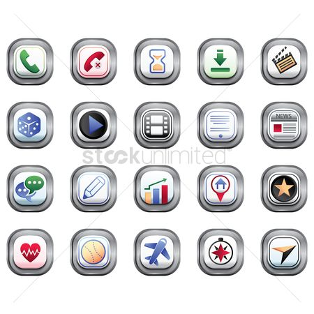 Dice : Set of mobile application icons