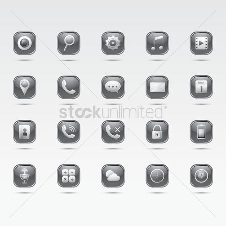 Calling : Set of mobile icons