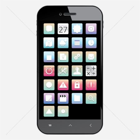 Favourites : Set of mobile icons