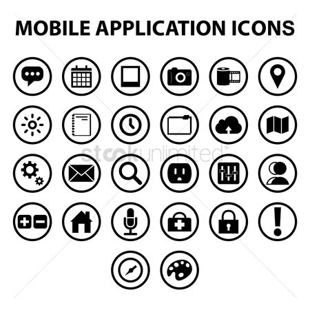 Palette : Set of mobile icons