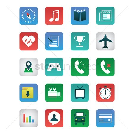 Ebooks : Set of mobile icons