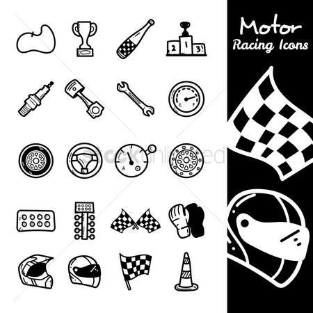 Fuel : Set of motor racing icons